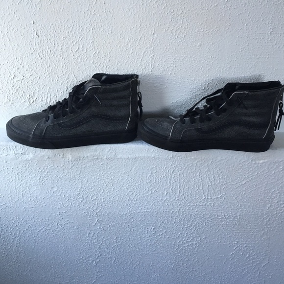 vans sk8 hi white cracked leather