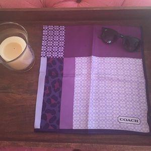 Coach Accessories - Coach patchwork neck scarf in purple