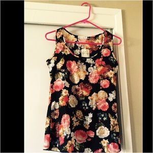 Floral Tank Style Top
