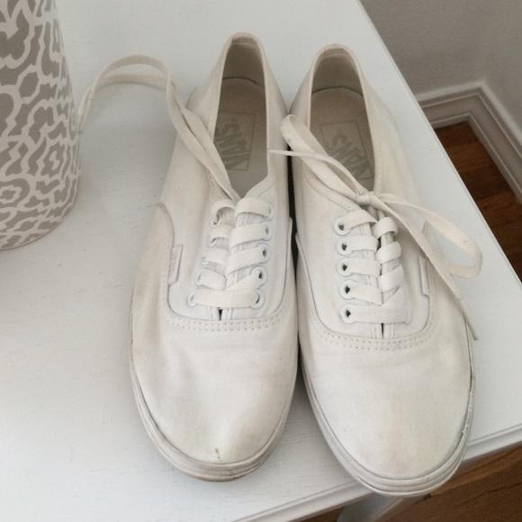 White Vans Womens | Poshmark