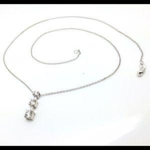 Womens past present future diamond necklace on poshmark 14k white gold pastpresentfuture necklace aloadofball Gallery
