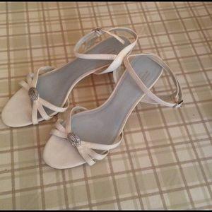 Lela Rose Shoes - XX • Lela Rose White Strappy Heels
