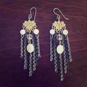 Francescas gold pearl chandelier earrings poshmark francescas collections jewelry francescas gold pearl chandelier earrings aloadofball Image collections