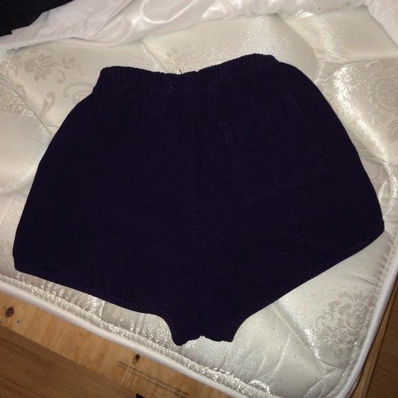 American Apparel Pants - AA Rigid Corduroy High-Waist Short XS