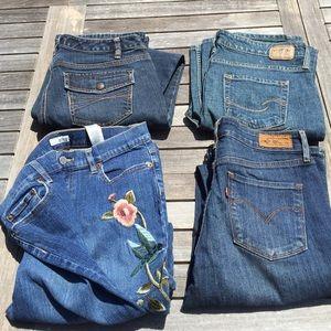 Jeans Bundle Lot Size 6 Loft Levi's Tint