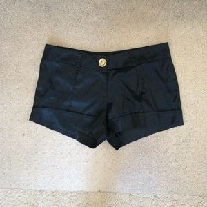 Forever 21 Pants - Black silky shorts