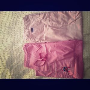Other - Two pink scrubs bottoms xs.