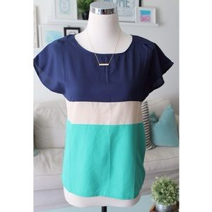 Striped Colorblock Top