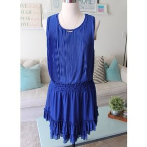 NWT! Blue Pleated Flapper Style Dress