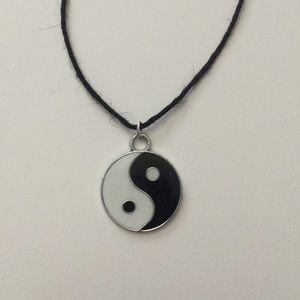 Tumblr Ying Yang Choker Necklace