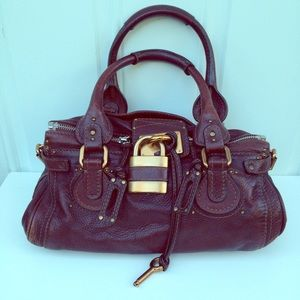 Authentic Chloe Paddington Padlock Satchel