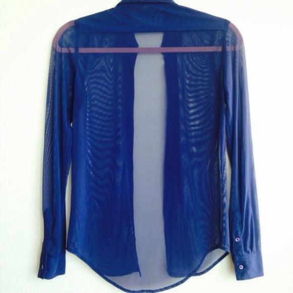 69 off american apparel tops american apparel blue mesh for American apparel mesh shirt