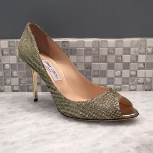 Jimmy Choo 'Evelyn' Peep Toe Pump
