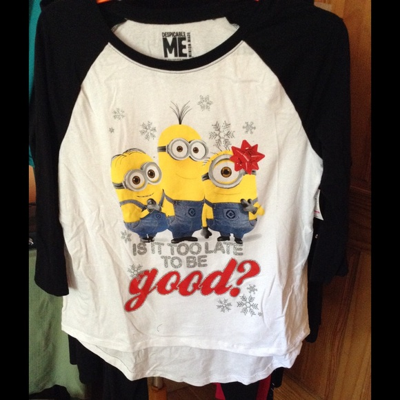 38 Off Walmart Tops Despicable Me Holiday Shirt Size