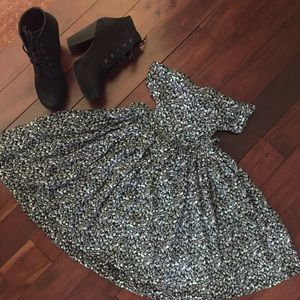 | Brandy Melville | floral cut out dress