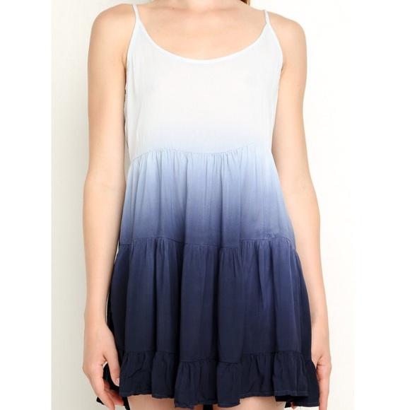 e3e9f6021f39 Brandy Melville Dresses   Skirts - Brandy Melville Jada Ombre White Blue  Tiered Dress