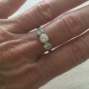 Jewelry - Lovely Sterling Silver and cubic zirconia ring