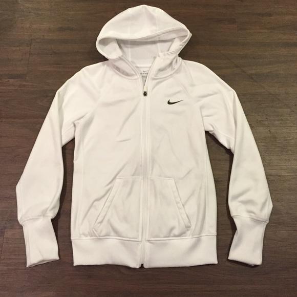 beb87526a735 White Nike Zip Up Hoodie. M 55bd648a9361536c9600d9e5