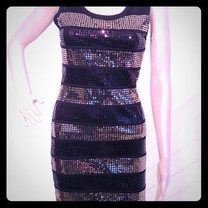 Club Wear Sequin Stretch Dress
