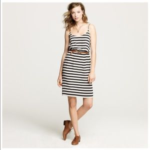 J. Crew Blouson striped dress