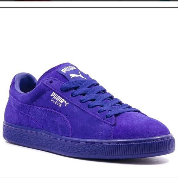 puma purple suede shoes