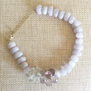 Anthropologie statement beaded necklace choker