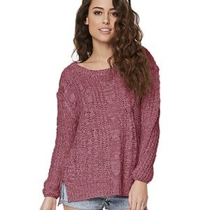 New Pacsun Pure Rebel xs/s knit burgundy sweater