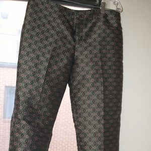 Club Monaco Pants - Club Monaco silk patterned pants