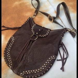 Handbags - BoHo beauty-saddle bag impeccable leather purse.
