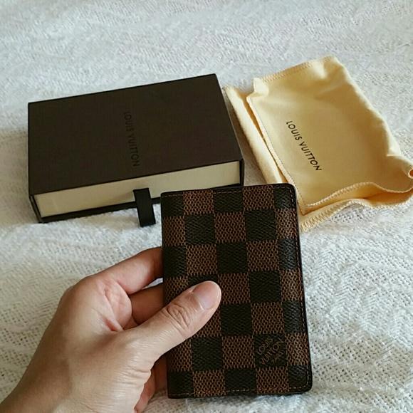 397b4f8e538 19% off Louis Vuitton Clutches   Wallets - Louis Vuitton Damier Ebene pocket  organizer  LOUIS VUITTON Damier Graphite Mens Pocket Organizer NM 62495