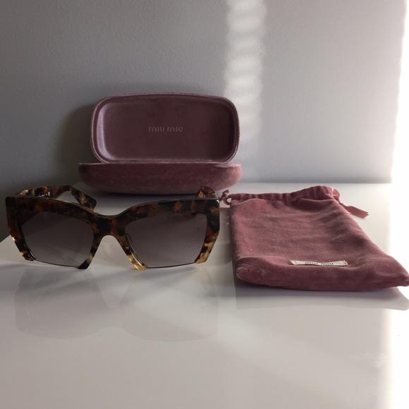 a76c9bdb2c4a Miu Miu SMU 11OS Rasoir Semi-Rimless Sunglasses
