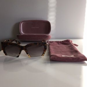 f62dc0861332 Miu Miu Accessories - Miu Miu SMU 11OS Rasoir Semi-Rimless Sunglasses