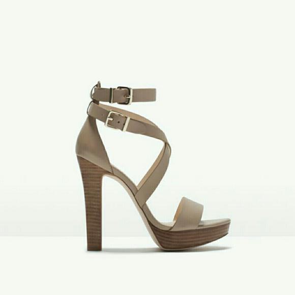 7dd632b32d6 Zara wide heel leather sandals
