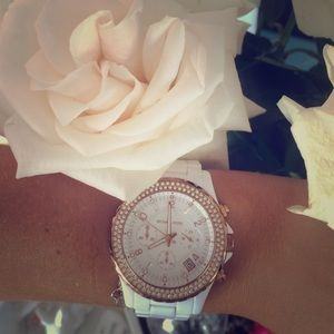 Michael Kors  Ceramic Crystal Watch
