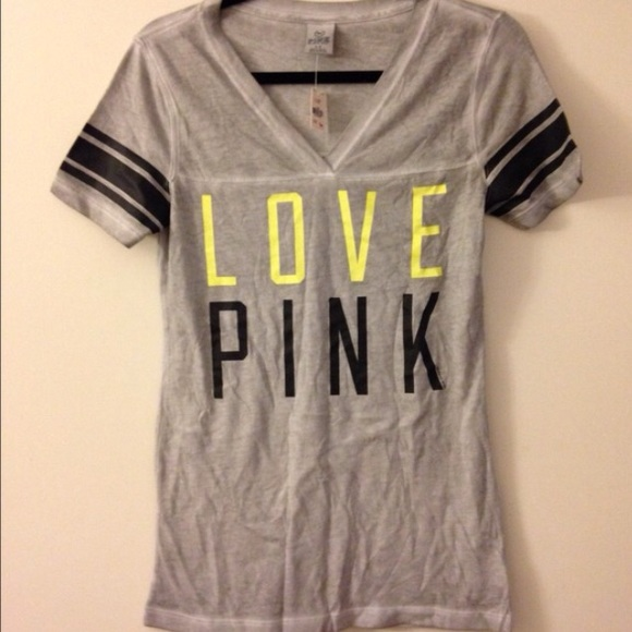 PINK Victoria's Secret - Love pink Victoria secret grey t shirt ...