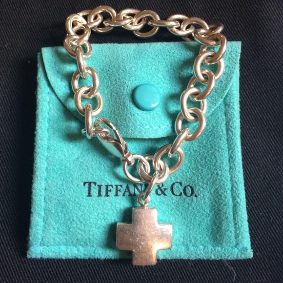 9412352e3 Tiffany & Co. Jewelry   Tiffany Co Cross Charm Bracelet   Poshmark