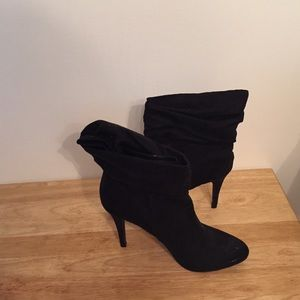 Cute suede slouch ankle boots😍