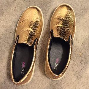 Just fab metallic shoes