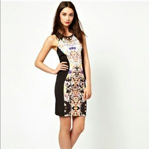 ASOS floral bodycon dress