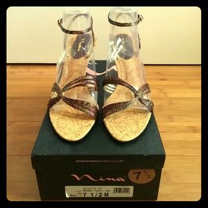 New Nina Ricci Vilette Sandals - Size 7 1/2