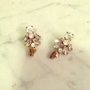 J. Crew Crystal & Gold Earrings