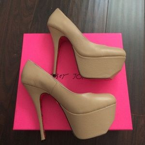 Betsey Johnson Gillian Nude Heels