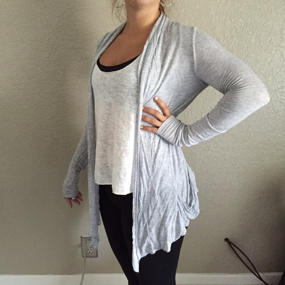 50% off Forever 21 Sweaters - Lightweight Grey Cardigan from ...