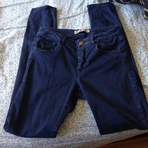 Zara Basic Denim High Waisted Blue Jeans!