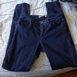 Zara Basic Denim High Waisted Blue Jeans!