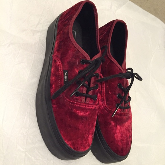 b2cf58c1ac Red velvet platforms. M 55be636a3ca15d7e5a011b7e. Other Shoes you may like.  Low rise black White vans