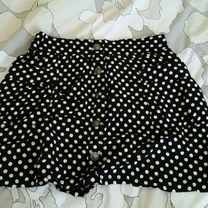 Polk a dot skirt with buttons