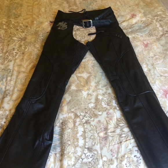 d1e08cebd Harley Davidson Pants | Womens Deluxe Harley Davidson Leather Chaps ...