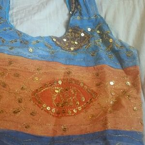Handbags - Indian Boho Chic Embroidered Tote