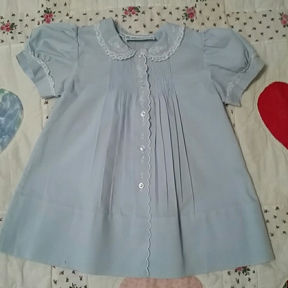 bc695527e48a Feltman Brothers Dresses | Blue Hand Embroidered Dress | Poshmark